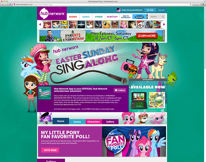 Hub Network Website Page- Easter Sunday Singalong