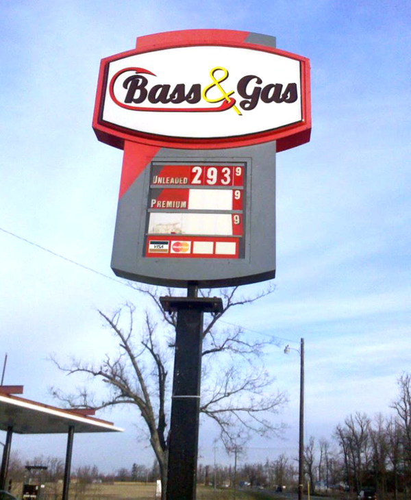 Bass & Gas Sign