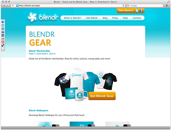 Blendr.com Screenshot