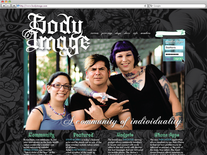 body image community website