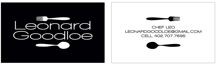 chef leo business card