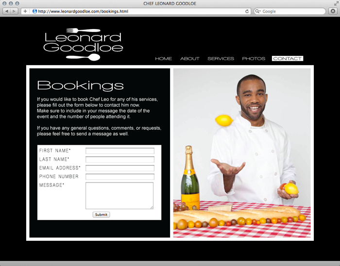 Chef Leo Website