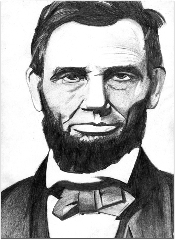 abe lincoln drawing