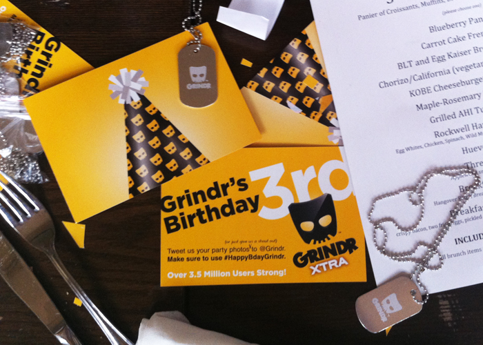 Grindr 3rd Birthday Artwork