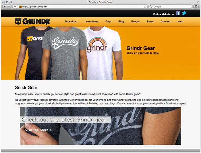 Grindr.com Screenshot