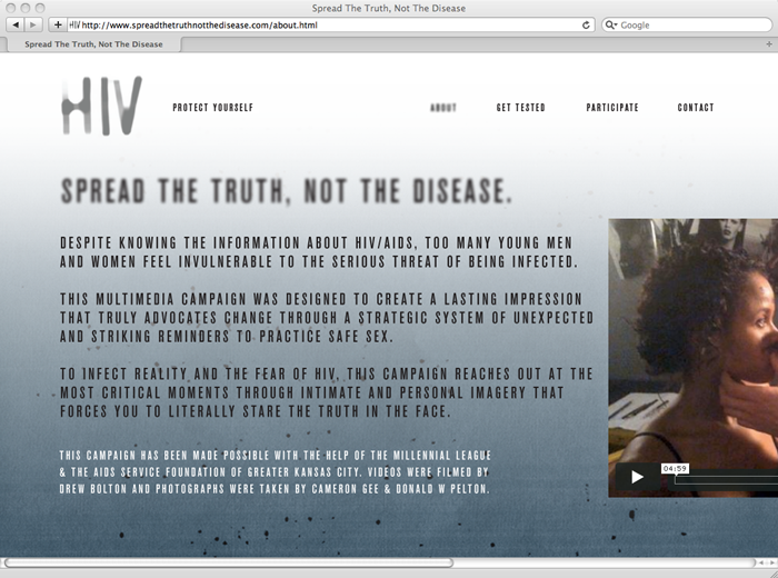 HIV Awareness Campaign Website